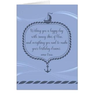 Happy Birthday Nautical Greeting Cards Zazzle
