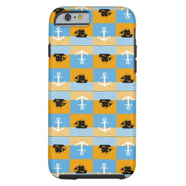 Sailboat and anchor pattern tough iPhone 6 case