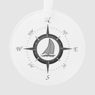 Sailboat And Compass Rose