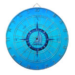 Sailboat And Compass Rose Dartboards
