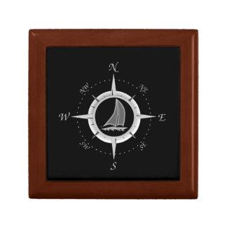 Sailboat And Compass Rose Gift Box