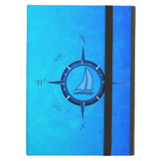 Sailboat And Compass Rose iPad Air Cover