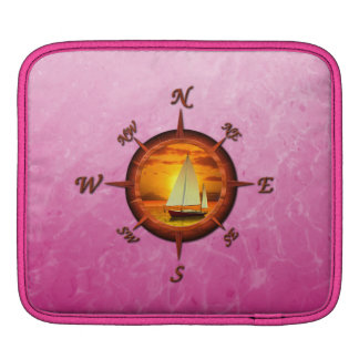 Sailboat And Compass Rose Sleeves For iPads