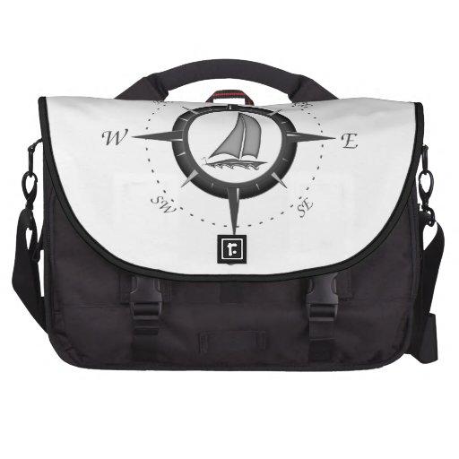 Sailboat And Compass Rose Computer Bag