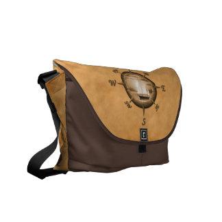 Sailboat And Compass Rose Messenger Bag