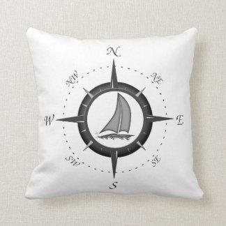 Sailboat And Compass Rose Pillows