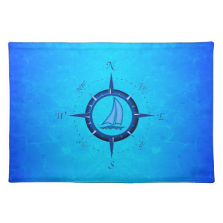 Sailboat And Compass Rose Placemat