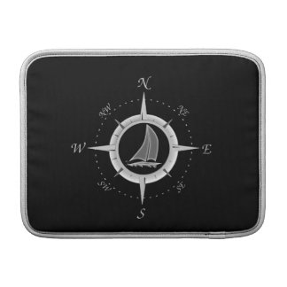 Sailboat And Compass Rose Sleeve For MacBook Air