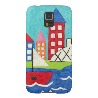 Sailboat and Hot Air Balloon with Cityscape Galaxy S5 Case