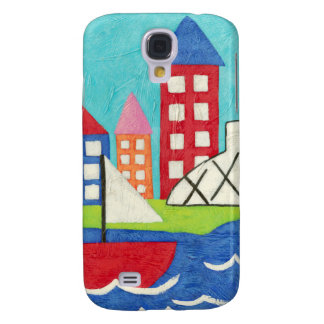 Sailboat and Hot Air Balloon with Cityscape Samsung S4 Case