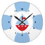 Sailboat and Life Ring Clocks