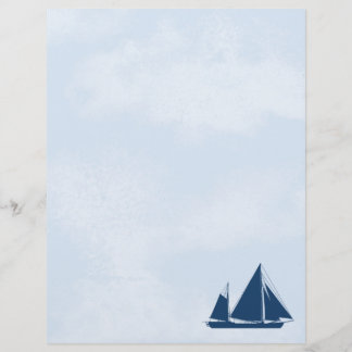 Sailboat and Sky Stationery Letterhead