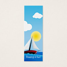 Sailboat And Sun | Bookmark Mini Business Card at Zazzle