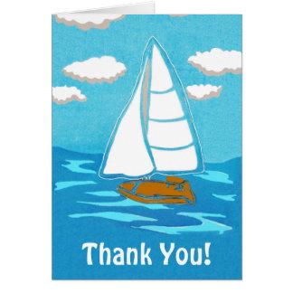 Sailboat Art Thank You Greeting Card