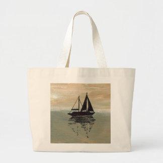 Sailboat Art Tote Bag Sailing Ocean
