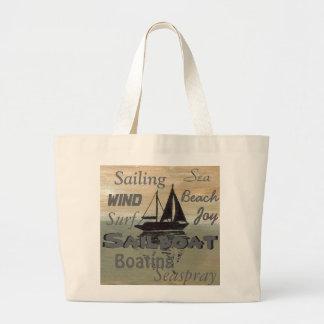 Sailboat Art Tote Bag Sailing Ocean 2