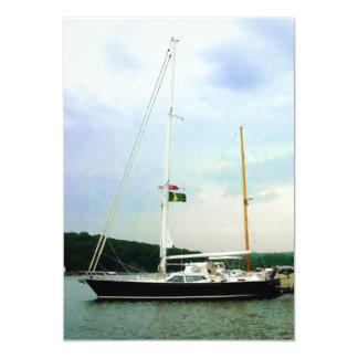 Sailboat at Anchor Card