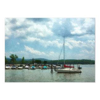 Sailboat at Dock Cold Springs NY Card