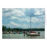 Sailboat at Dock Cold Springs NY Cards