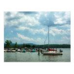 Sailboat at Dock Cold Springs NY Postcard