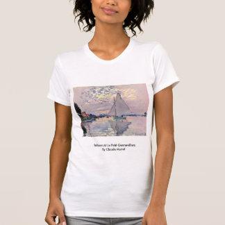 Sailboat At Le Petit-Gennevilliers By Claude Monet T Shirt