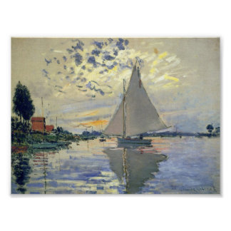 Sailboat at Le Petit-Gennevilliers Poster