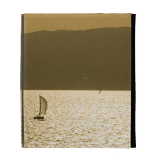 Sailboat at Mediterranean Sea iPad Folio Cover