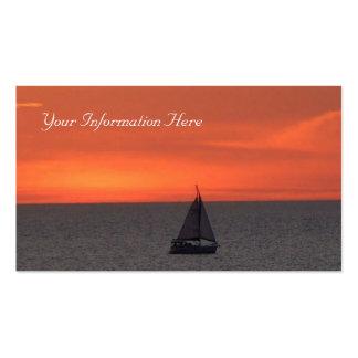 Sailboat at Sparkling Sea Business Card