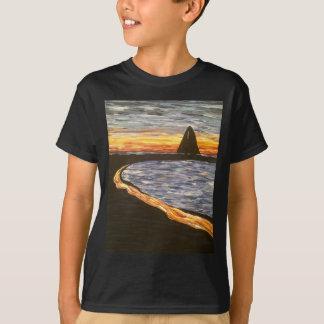 Sailboat at Sunset- Acrylic Painting T-Shirt