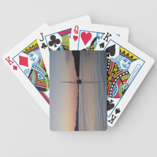 Sailboat at Sunset Bicycle Playing Cards