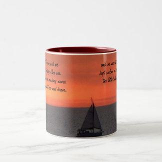 Sailboat At Sunset Ceramic Mug