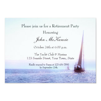 Sailboat at Sunset Invitation