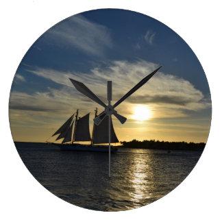 "Sailboat at Sunset on a 10"" clock"