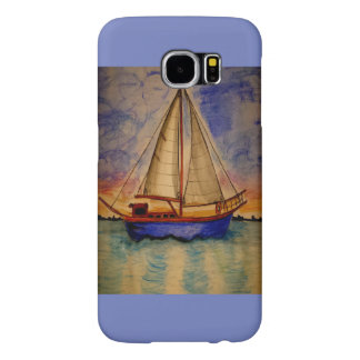 Sailboat at Sunset on Samsung Galaxy S6 Case
