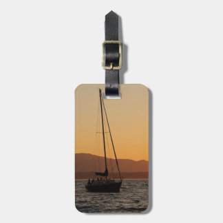 Sailboat At Sunset On The Puget Sound Bag Tags