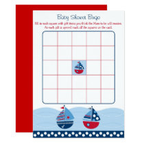 Sailboat Baby Shower Bingo Card