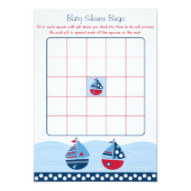 Sailboat Baby Shower Bingo Cards