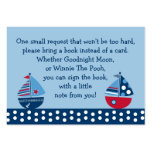 Sailboat Baby Shower Book Request Cards Business Cards