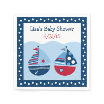 Sailboat Baby Shower Napkin