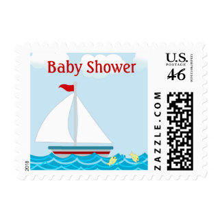 Sailboat Baby Shower Postage