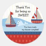 Sailboat Baby Shower Sticker