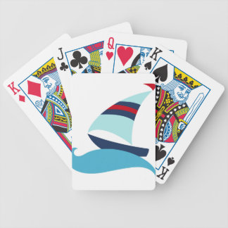 Sailboat Bicycle Playing Cards