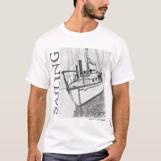 Sailboat Biloxi, SAILING, John I. Jones T-Shirt