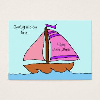 Sailboat Birth Announcement Card