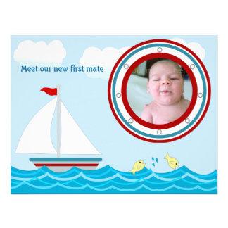 Sailboat Birth Announcement