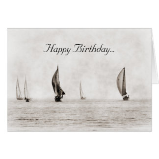 Sailboat Birthday Card
