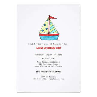 Sailboat Birthday Invitation