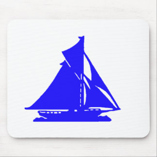 Sailboat Blue lg-transp Vero Beach The MUSEUM Zazz Mouse Pad