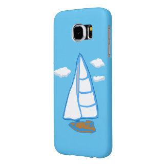 Sailboat Blue Samsung Galaxy S6 Case
