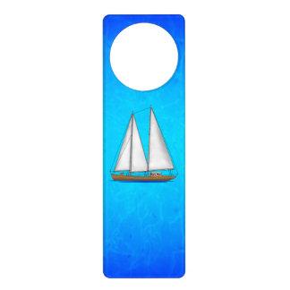 Sailboat Blue Waters Door Knob Hangers